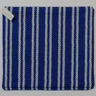Navy with White Diamond Stripes Pot Holder