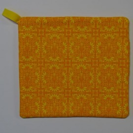 Orange with Yellow Swirls Pot Holder