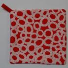 Red with Light Pink Circles Pot Holder