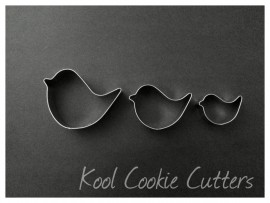 Bird - Set of 3 Cookie Cutters